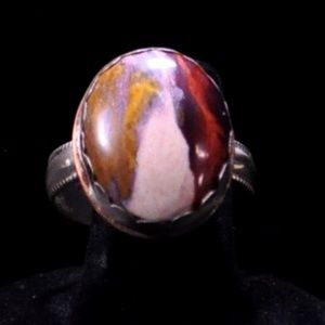 Other - Men's silver and copper ring, mountain agate